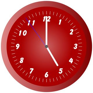 Bigstock-Red-Wall-Clock-Illustration-At-1448960